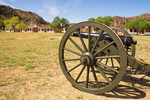 Cannon on Parade Ground, Officer's Quarters, Fort Davis National Historic Site, Davis Mountains, Fort Davis, Texas