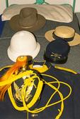 Hats and Clothing, Enlisted Men's Barracks, Fort Davis National Historic Site, Davis Mountains, Fort Davis, Texas