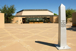 Visitor Center and Boundary Marker, Chamizal National Memorial, El Paso, Texas