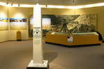 Visitor Center Interior Exhibit and Boundary Marker, Chamizal National Memorial, El Paso, Texas