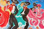 Nuestra Herencia, Our Heritage Mural, Artist Carlos Flores, Chamizal National Memorial, El Paso, Texas