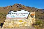 Entrance Sign, Guadalupe Mountains National Park, Chihuahuan Desert, Texas