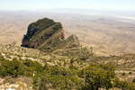 View of El Capitan from Guadalupe Peak Trail, Guadalupe Mountains National Park, Chihuahuan Desert, Texas