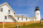 Wooden Fence, Pemaquid Point Light, 19th Century Lighthouse, Maine's Rocky Coast, Bristol, Maine