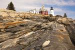 Pemaquid Point Light, 19th Century Lighthouse, Maine's Rocky Coast, Bristol, Maine