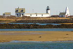 Goat Island Light from Cape Porpoise, Rocky Maine Coast, Maine