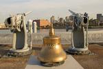 Bell and Cannons, Freedom Trail, Boston National Historical Park, Charlestown Navy Yard, Boston, Massachusetts