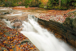Baby Flume Waterfall, Pemigewasset River, Franconia Notch State Park, White Mountains, New Hampshire