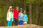 Children on the Basin Cascades Trail, Franconia Notch State Park, White Mountains, New Hampshire