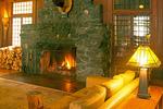 Interior Lobby and Fireplace, Lake Crescent Lodge, Singer's Lake Crescent Tavern, Olympic National Park, Washington