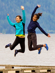 Jumping for Joy, Lake Crescent, Olympic National Park, Washington