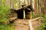 Hiker's Cabin on Sol Duc Falls Trail, Canyon Creek Shelter, Olympic National Park, Washington