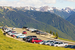 Parking Lot on Hurricane Ridge, Snow Covered Olympic Mountains, Olympic National Park, Washington