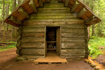 Longmire Cabin, Trail of the Shadows, Longmire Area, Mount Rainier National Park, Washington