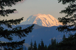 Mt. Adams from Box Canyon of the Cowlitz River, Mount Rainier National Park, Washington