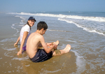 Children on Toms Cove Beach, Assateague Island National Seashore, Virginia