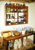 Cupboard and Glassware, Michie Tavern, Charlottesville, Virginia