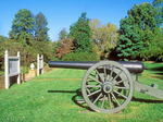 Cannon at Chatham Manor, Fredericksburg and Spotsylvania National Military Park, American Civil War, Virginia