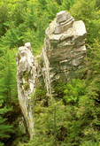 Devil's Pulpit Rock Formation, Monument Mountain Waterfall, Berkshires, Great Barrington Stockbridge, Massachusetts