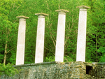 Columns at Ashintully Gardens, Berkshires, Tyringham, Massachusetts