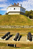 Cannons and Blockhouse, Fort McClary State Historic Site, Kittery, Maine