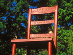 World's Largest Chair, Twelve Foot Tall Mission Chair, Gardner, Massachusetts