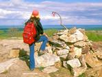 Hiker on Mount Watatic, Wapack Range, Ashburnham and Ashby, Massachusetts