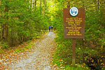 Hikers on Zealand Trail, White Mountains, Crawford Notch, New Hampshire