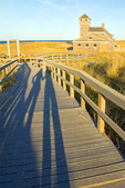 Shadows on Boardwalk, Old Harbor U.S. Life Saving Station, Duluth-type Building, Cape Cod National Seashore, Provincetown, Massachusetts
