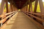 Interior, Riverwalk Covered Bridge, White Mountains, Littleton, New Hampshire