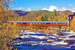 Riverwalk Covered Bridge, Ammonoosuc River, White Mountains, Littleton, New Hampshire