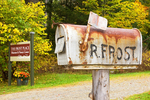 Robert Frost Mailbox at the Frost Farm, Frost Place, White Mountains, Franconia, New Hampshire