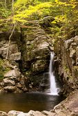 Kinsman Falls, Cascade Brook, Basin Cascades Trail, Franconia Notch State Park, White Mountains, New Hampshire