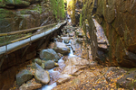 Boardwalk in Flume Gorge, Franconia Notch State Park, White Mountains, Lincoln, New Hampshire