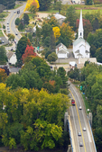 New England Town, Viewed from Mt. Sugarloaf, Sunderland, Massachusetts