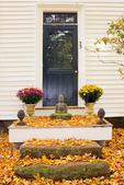 House on Main Street with Buddha, 19th Century Architecture, Historic Deerfield, Deerfield, Massachusetts
