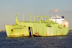 BW GDF Suez Boston LNG Carrier in Boston Harbor