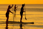 Stand Up Paddle Boarding in Florida at Sunset