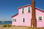 Pink House on Peddocks Island, Boston Harbor Islands National Recreation Area, Boston, Massachusetts