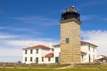 Beavertail Lighthouse, Conanicut Island, Beavertail State Park, Narragansett Bay, Jamestown, Rhode Island