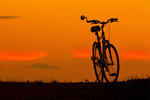 Bicycle Silhouetted at Sunset
