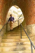 Person on Staircase, Fort Adams State Park, Newport, Rhode Island