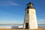 Goat Island Light, Newport Harbor Light, Claiborne Pell Newport Bridge, Narragansett Bay, Newport, Rhode Island