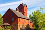 Old Red Mill and Mill House, Chittenden Mills, 19th Century Grist Mill, Jericho, Vermont