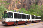 Shuttle Bus at Weeping Rock, Zion National Park, Utah