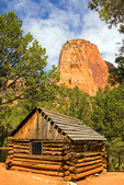 Paria Point and Gustive Larson Cabin, Middle Fork of Taylor Creek Trail, Kolob Canyons section, Zion National Park, Utah