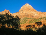 Bridge Mountain from the Pa'rus Trail, Zion National Park, Utah
