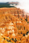 Foggy View from Upper Inspiration Point, Bryce Canyon National Park, Utah