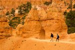 Hiking on the Queen's Garden Trail, Bryce Canyon National Park, Utah