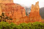 Paria View Viewpoint in Fog, Paria River, Bryce Canyon National Park, Utah